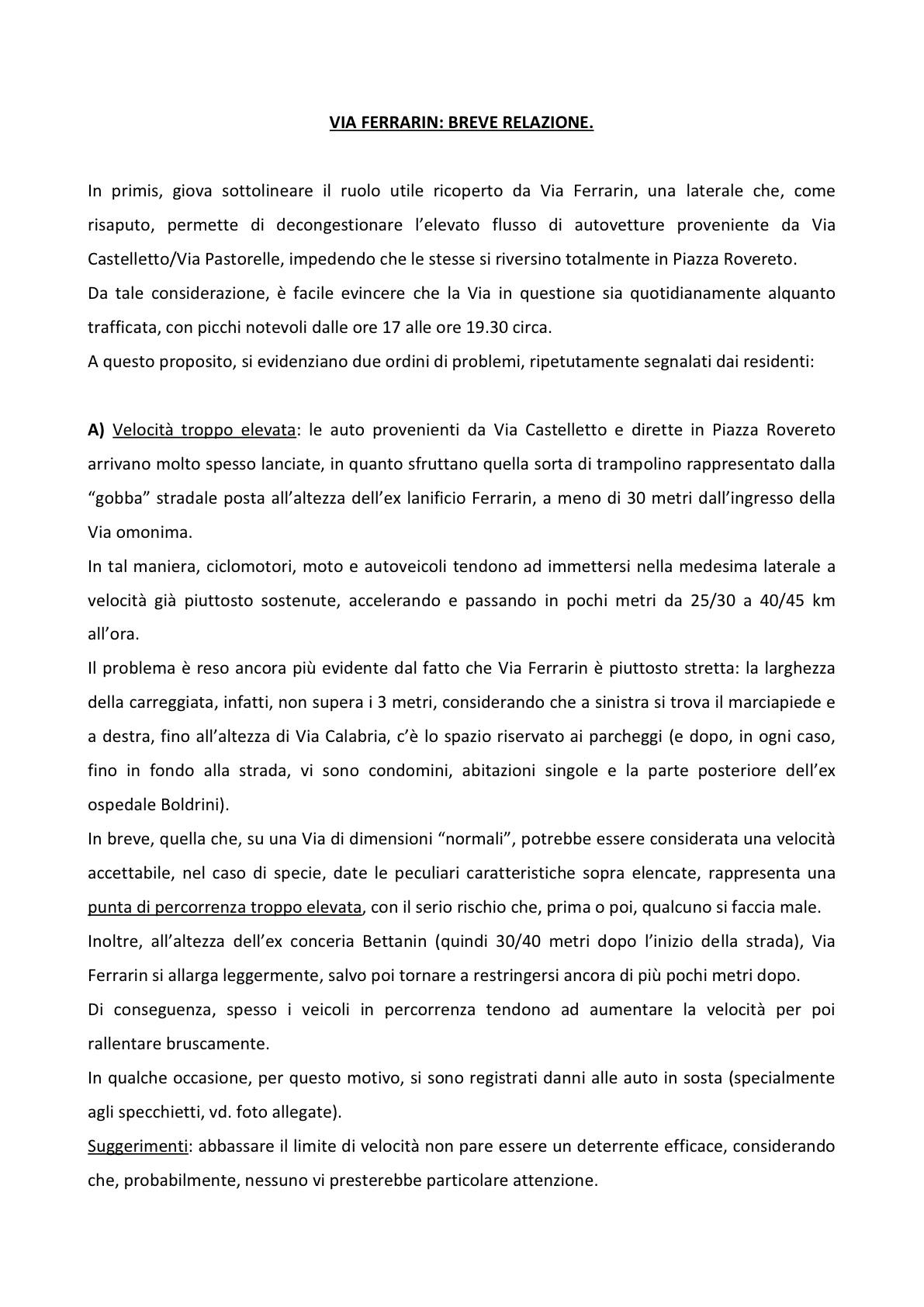 Relazione Via Ferrarin1